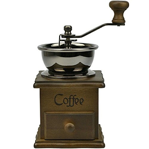 High Quality Manual Coffee Grinder Retro Wood Design Coffee Mill Maker Grinders Coffee Bean Grinder Hand Conical Burr (Hario French Press Wood compare prices)