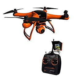 DBPOWER WINGSLAND 2.4G 10CH POI FPV Quadcopter with GPS Auto Return Function, 1290*1080 HD Camera with Monitor and Intelligent Flight Battery by dbpower