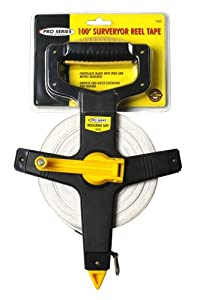 KR Tools 10220 Pro Series 100-Feet Surveyor Reel Tape Measure