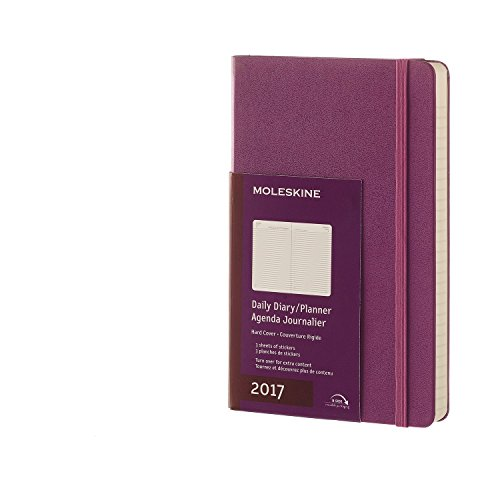 Moleskine 2017 Daily Planner, 12M, Large, Grape Violet, Hard Cover (5 x 8.25)