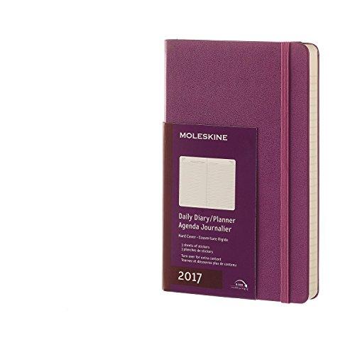 Moleskine 2017 Daily Planner, 12M, Large, Grape Violet, Hard Cover (5 x 8.25)
