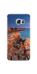 Casenation Sea Rocks Samsung Galaxy S6 Edge Plus Glossy Case