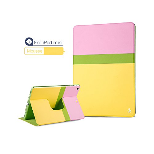 Pioneer Tech® 360 Rotating Stand Smart Cover Ipad Mini 1 Ipad Mini2 Girly Tiffany Case (Mousse)