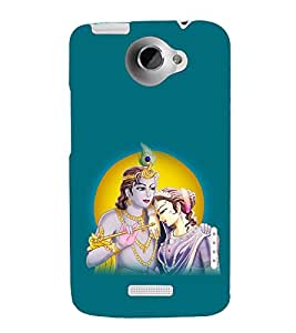 printtech Lord God Radha Krishna Back Case Cover for HTC One X