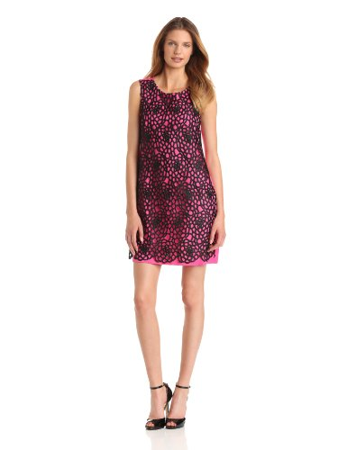 ABS Allen Schwartz Women's Sleeveless Eyelet Overlay Dress
