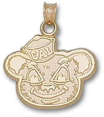 California (Berkeley) Golden Bears Oski Bear Pendant - 14KT Gold Jewelry by Logo Art