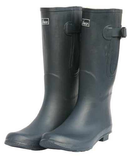 Mens Extra Wide Calf (up to 20 inch) Rubber Rain Boots in Dark Navy (12)