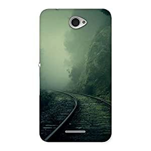 Delighted Fog Track Back Case Cover for Sony Xperia E4