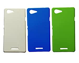 Winsome Deal Hard Back Cover Case for Sony Xperia E3 (Pack Of 3)