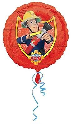 Folienballon * FEUERWEHRMANN SAM * für Kindergeburtstag oder Motto-Party // Folien Ballon Party Helium Deko Ballongas Motto Feuerwehr