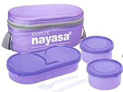 Nayasa� Thermoware� Duplex Lunch Box Soft Tiffins, Purple