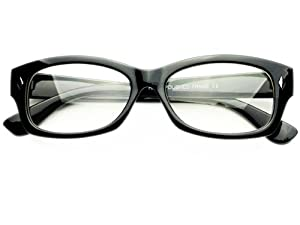 Amazon.com: Modern Reading Optical Style Clear Lens ...