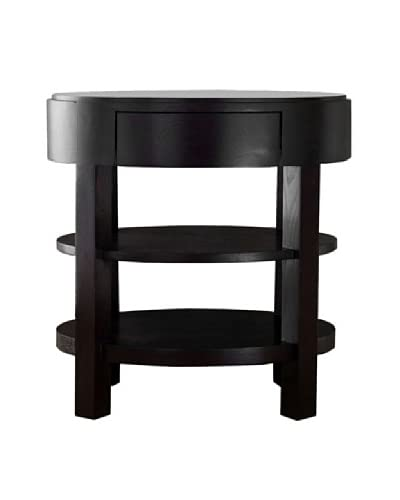 Abbyson Living Maytime Ellipse End Table, Rich Caramel