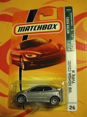 2008-2009-matchbox-08-honda-civic-type-r-2-of-9-metro-rides-series-26-grey-silver-by-matchbox