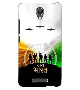 ColourCraft Jai Bharat Design Back Case Cover for XIAOMI REDMI NOTE 2