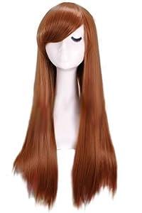 L-email Suzumiya Haruhi 75cm/29.53inch Long Straight Cosplay Wig Brown Cw171