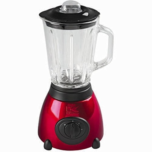Kalorik 500-Watt 2-Speed Countertop Blender with 48-Oz. Glass Jar, Metallic Red Spray