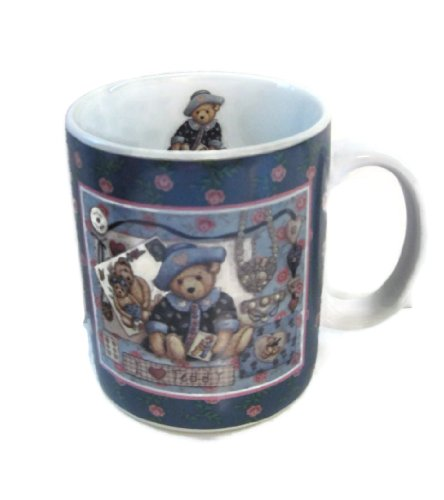 1997 Lang And Wise Mug Cup I Love Teddy By Nita Showers