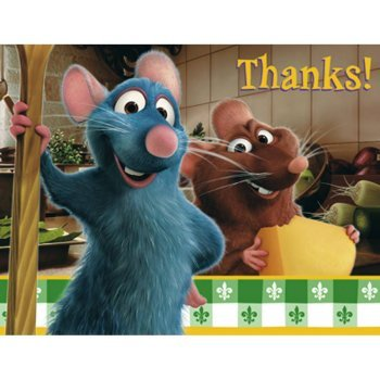 Ratatouille Thank You Notes w/ Envelopes (8ct)