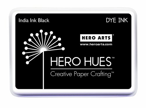 Hero Arts India Ink Pad, Black (Dye Based Stamp Pad compare prices)