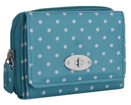 EyeCatch - Aria Spotty Ladies Faux Leather Purse Blue