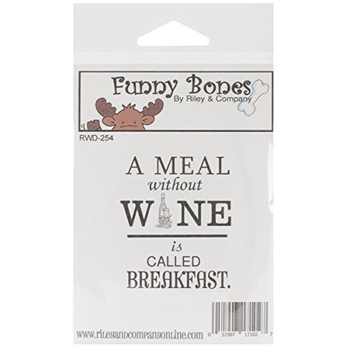 riley-company-funny-bones-cling-mounted-stamp-175-by-225-inch-a-meal-without-wine