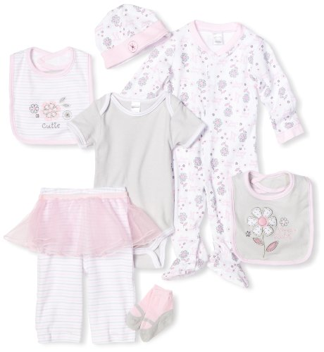 Babygear Baby-Girls Newborn Sweet Baby Clothing Set, Pink, 0-3