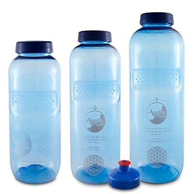 Acala Trinkflaschen optimal Set aus Tritan mit Blume des Lebens
