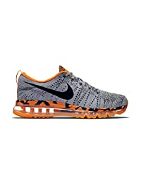 Nike Flyknit Air Max 747361-008 Wolf Grey/Orange/Black Men's Running Shoes
