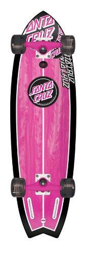 Santa Cruz Skate Pink Shark Cruzer Skateboard Deck (33x9.7-Inch)
