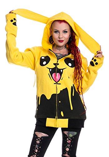 Pikachu-Felpa stilo, colore: nero e Giallo Cupcake Cult giallo X-Large