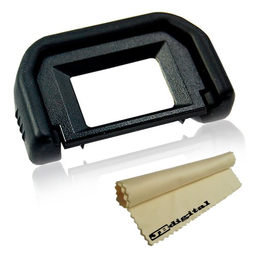 Super Quality Rubber Eyecup For Canon Eos 1000D 550D 500D 450D 400D 350D 300D Digital Rebel T1I T2I Xt Xti Xsi Eos Rebel K2 T2 Ti - Functions Exactly As The Canon Eyecup Ef + Super Fine Jb Microfiber Cleaning Cloth