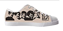 Renben Kids Girl\'s One Direction Canvas Shoes Lace-up Low-top Sneakers Fashion Running Shoes