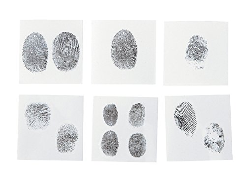 Fingerprint Tattoos (72 Pcs) Temporary Tattoo. Safe and Non-toxic.