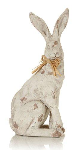 Droit Face 41cm jardin Crème lièvre avec nœud-Décoration Maison