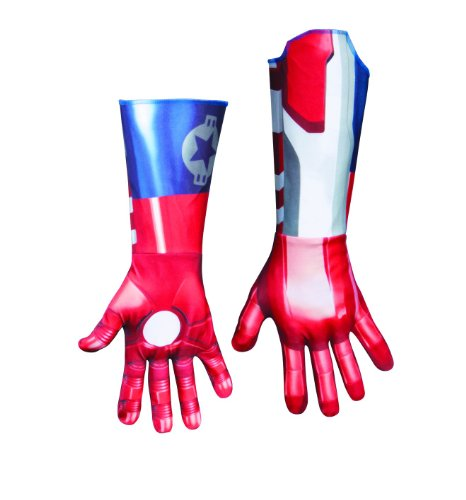Disguise Marvel Iron Man 3 Iron Patriot Deluxe Adult Gloves Costume Accessory
