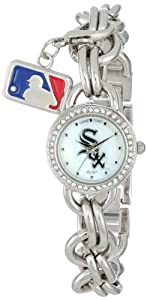 Game Time Ladies MLB-CHM-CWS Charm MLB Series Chicago White Sox 3-Hand Analog Watch by Game Time