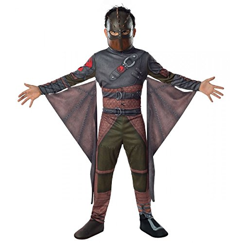 [GSG Hiccup Costume Kids How To Train Your Dragon Halloween Fancy Dress] (Dragon Warrior King Adult Mens Costumes)