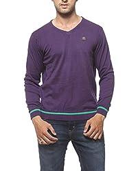 SPYKAR Men Cotton Purple Casual Shirt (Large)