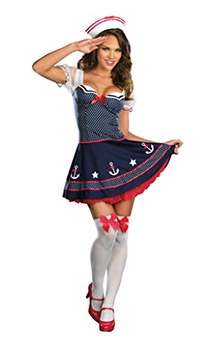 Dreamgirl Womens Ship Happens Sailor Outfit Fancy Dress Sexy Costume