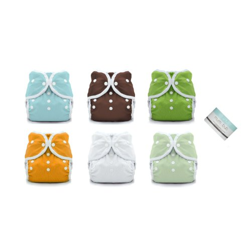 6 Duo Wrap Snaps Diaper Covers Solid Colors -Size 1 (6-18 lbs)