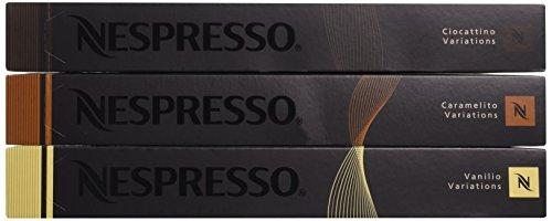 Nespresso OriginalLine: Vanilio,Ciocattino, Caramelito, 30 Count (Nespresso Hot Chocolate Capsules compare prices)