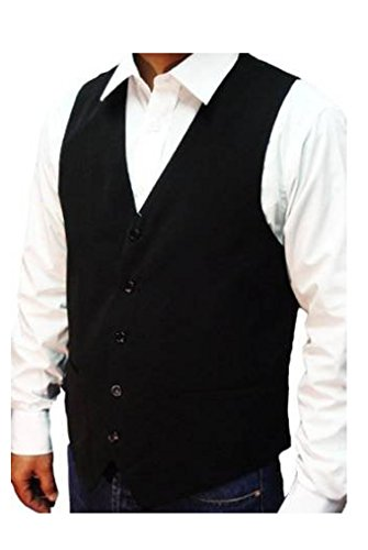 NEW MEN'S BLACK WAISTCOAT SUPERB HIGH STREET QUALITY, Size-XX Large 46