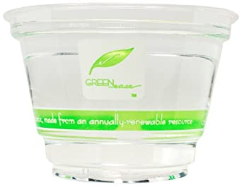 "IFN Green 25-2009-98 Green Ease PLA Cold Cup, 9 oz Capacity, 3.85"" Diameter x 2.70"" Height (Case of 1000)"