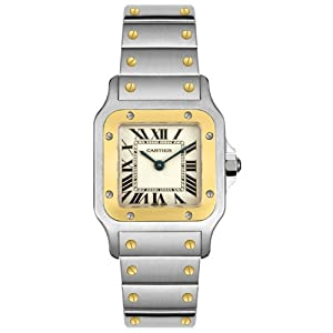Cartier Women's W20012C4 Santos 18K Gold and Stainless Steel Watch from Cartier