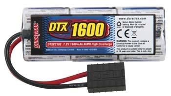 NiMH 7.2V 1600mAh 2/3A Stick Pack 1/16 TRA Plug