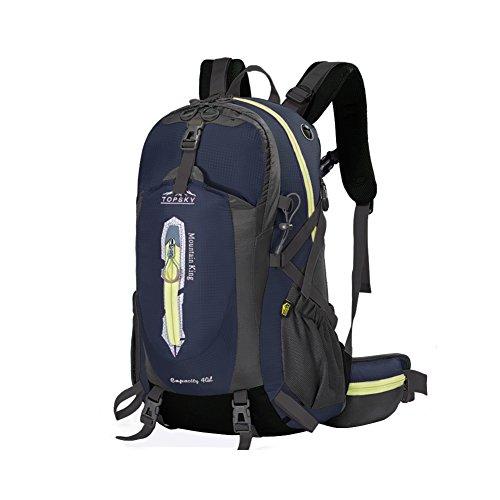 Outdoor sac à dos d'alpinisme / randonnée sac de Voyage multifonction-bleu marin 40L