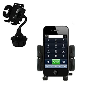 Innovative Gomadic Brand Apple iPhone 4 Cup Holder Vehicle Mount - Expands to fit any auto / car cupholder comes with the Gomadic Lifetime Warranty