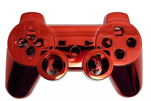 Game Xcel Red Chrome Finished Replacement Playstation 3 Controller Shell  Case Kits Buttons