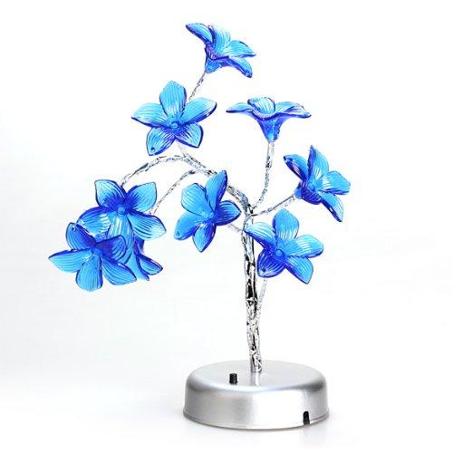 Vktech Mini Lily Flower Tree Led Light Lamp For Home Desk Festival Decoration Blue